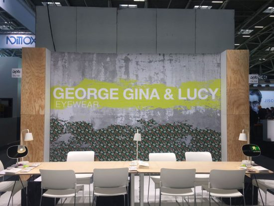 Opti Messestand George Gina & Lucy